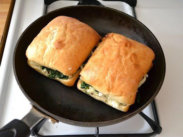 Sandwiches in skillet