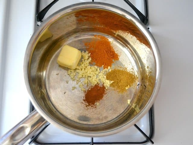 Butter & Spices in pot