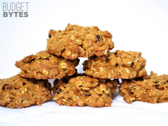 Stack of Oatmeal Pumpkin Cookies