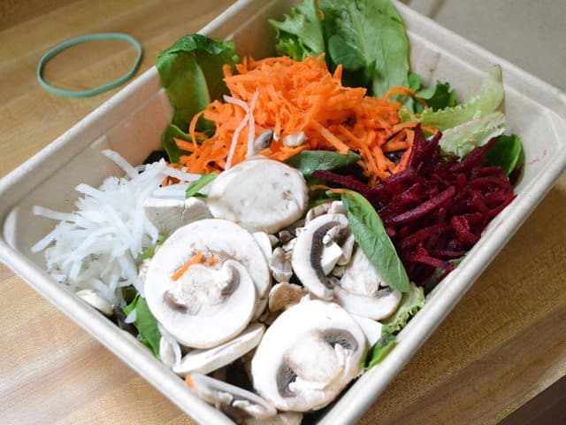 Salad Bar salad in container