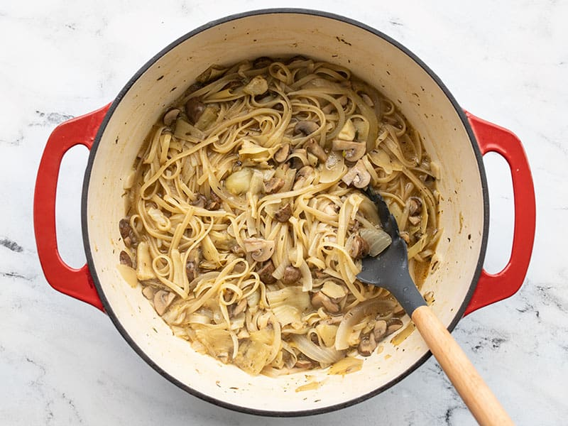 Cooked one pot pasta