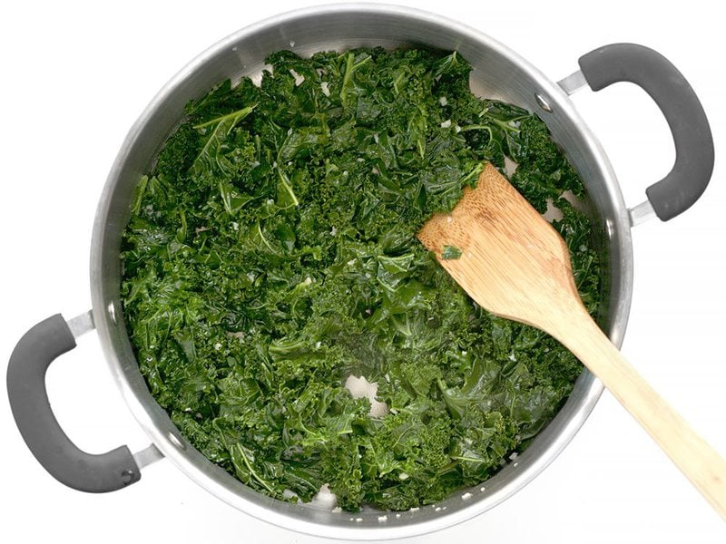 Sauté Kale in butter and garlic