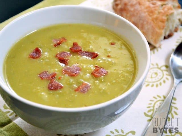 Split Pea, Bacon & Potato Soup - Budget Bytes