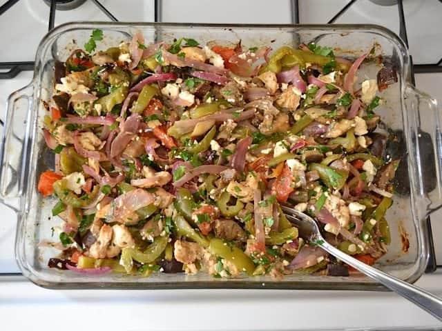 Finished Greek Stuffed Pita mix