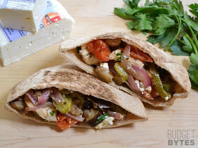Greek Stuffed Pitas