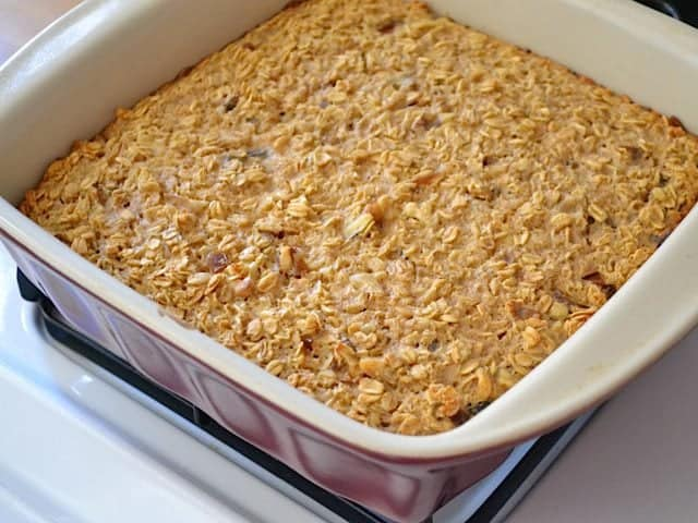 Baked Oatmeal in baking pan