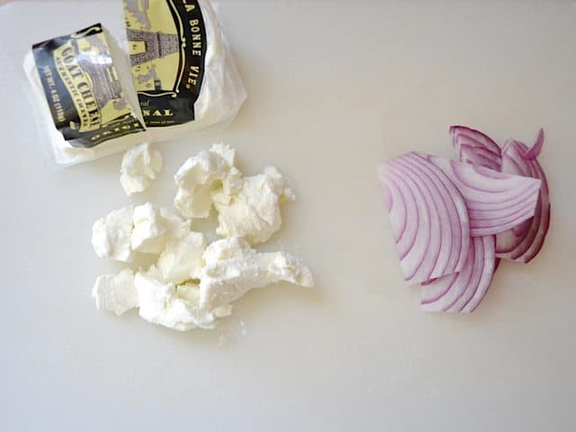 Goat Cheese and Red Onion