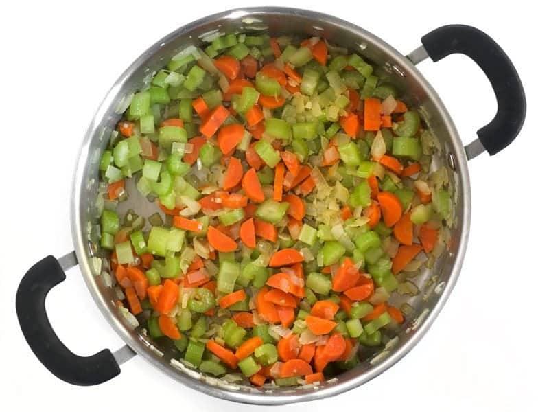 Sauté Celery and Carrots