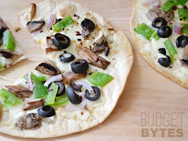 Close up of Quick Fix Salad Bar Pizza