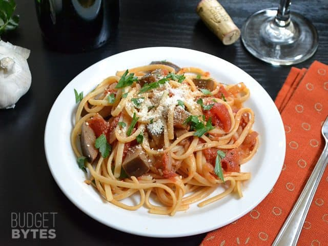 Pasta with Eggplant Sauce - Budget Bytes