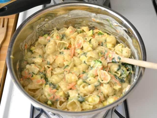Vegetable Alfredo Pasta Bake - Budget Bytes