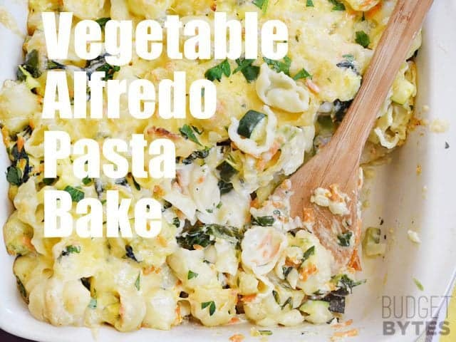Recipe for a vegetable pasta bake