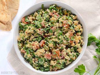 Falafel Salad - BudgetBytes.com