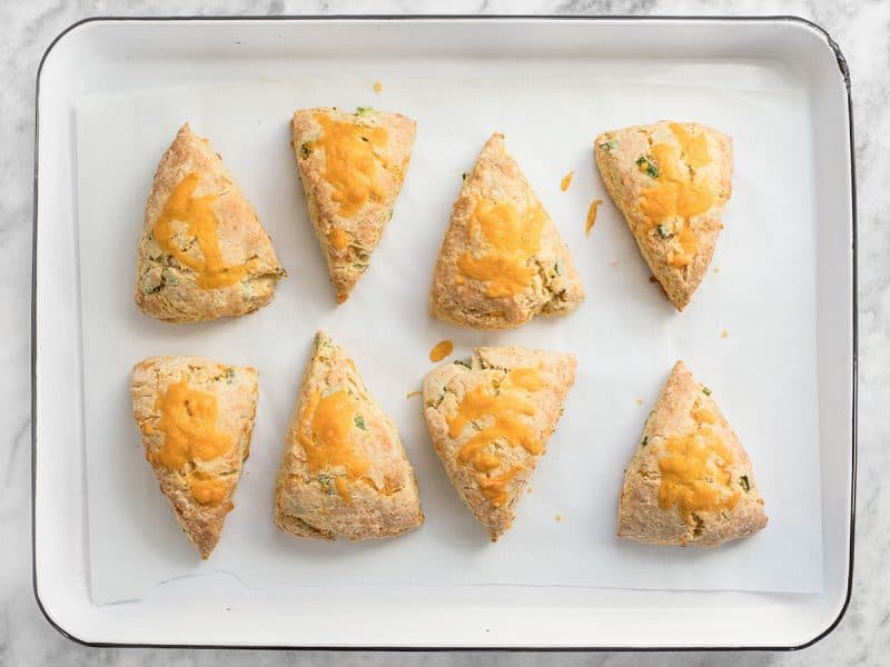 Baked Cheddar Scallion Scones