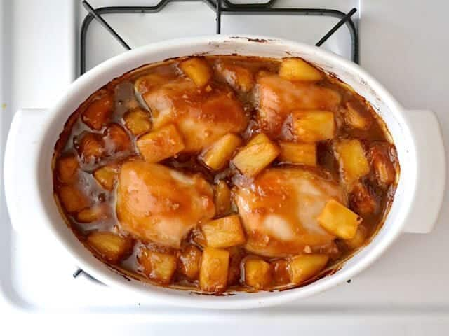 Cooked Pineapple Teriyaki Chicken Thighs