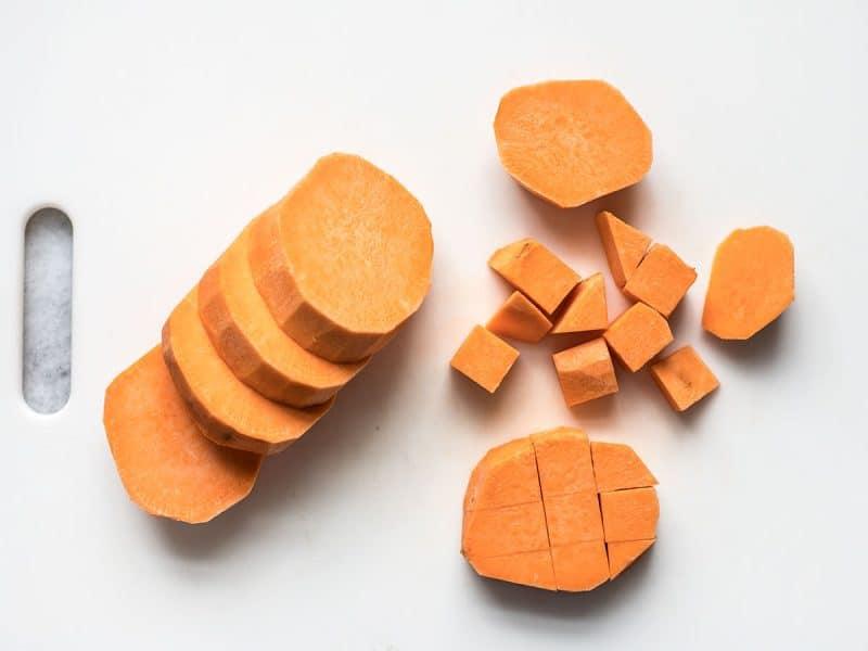 Dice Sweet Potatoes