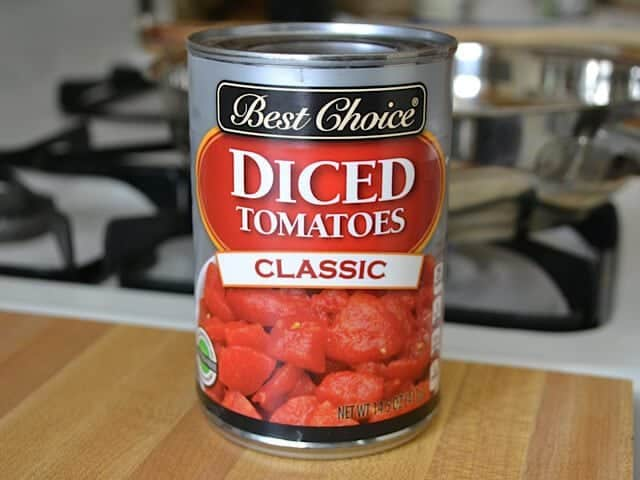 Can of Diced Tomatoes