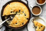 Lemon Blueberry Cornbread Skillet