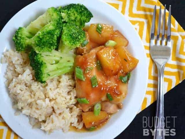 Baked Pineapple Teriyaki Chicken Thighs - Budget Bytes