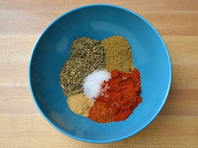 Blackened Seasoning ingredients in mixing bowl