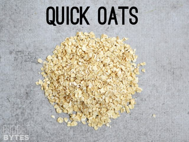 Small pile of Quick Oats
