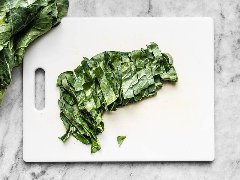 Slice Collard Greens