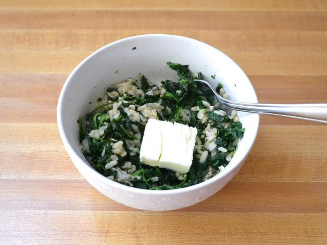 Season Spinach and Rice