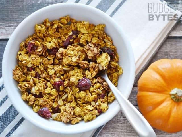 Pumpkin Spice Granola - BudgetBytes.com