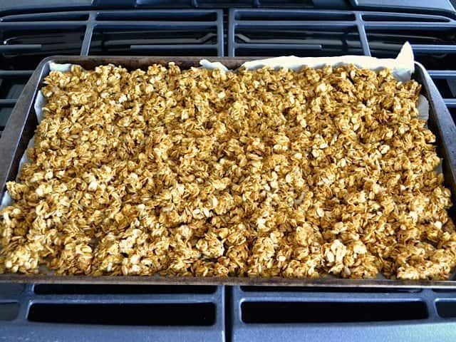 Pumpkin Granola ready to bake