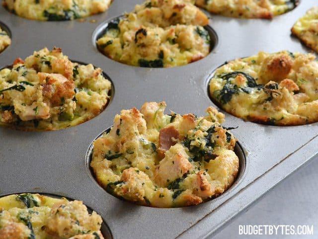 Leftover Stuffin Muffins - BudgetBytes.com