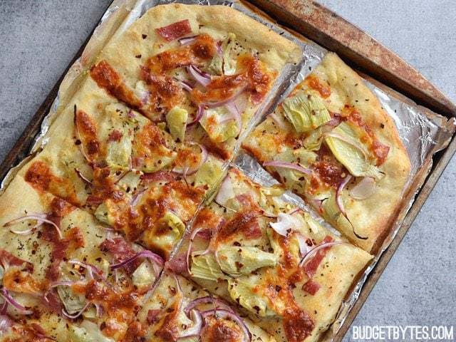 Spicy Italian Flat Bread - BudgetBytes.com
