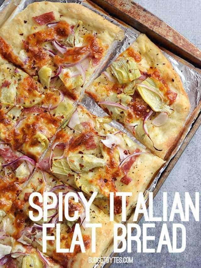 Spicy Italian Flat Bread