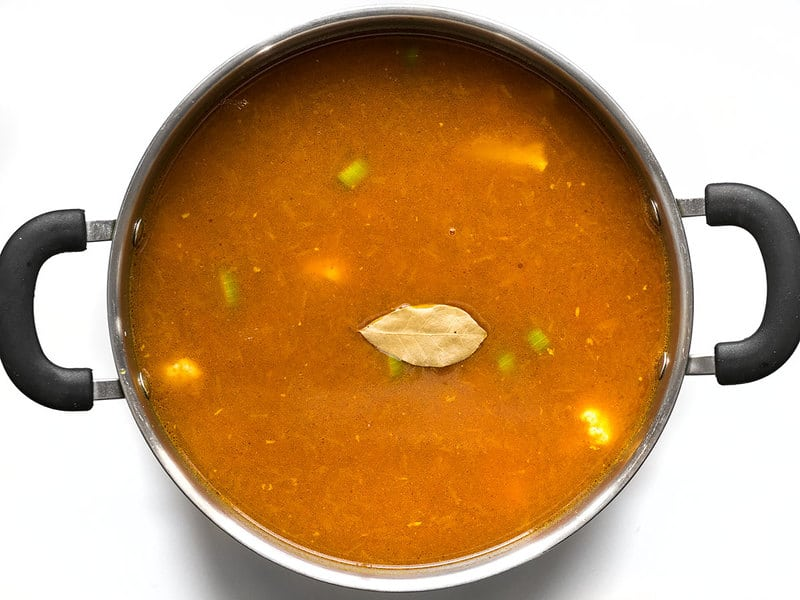 Vegetable Broth and Bay Leaf