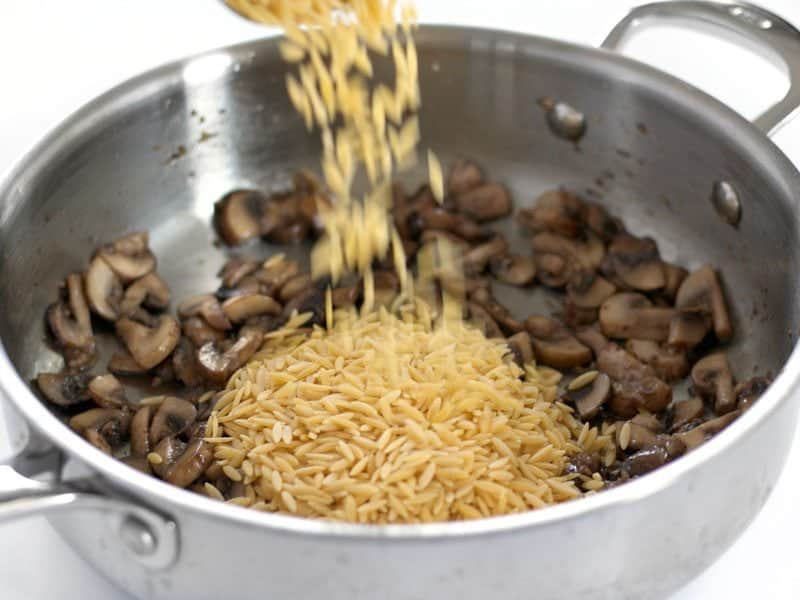 Add Uncooked Orzo