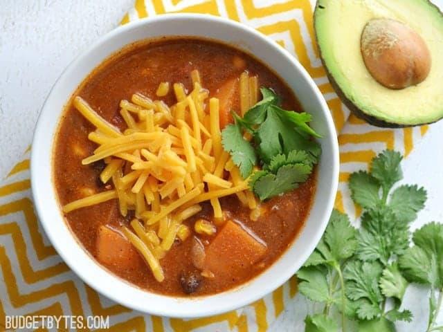 Sweet Potato Tortilla Soup - BudgetBytes.com