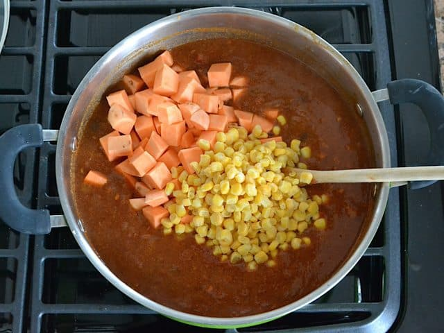 Sweet Potatoes and corn