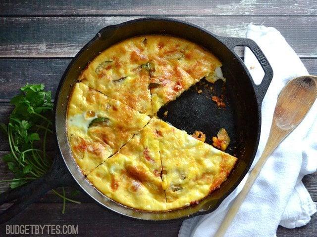 Zucchini and Corn Frittata - BudgetBytes.com