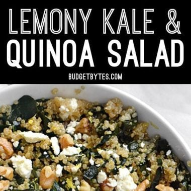 This brightly flavored kale and quinoa salad is a great way to work extra greens into your meal. Serve it cold like a salad or as a warm side dish.
