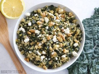 Lemony Kale and Quinoa Salad - BudgetBytes.com