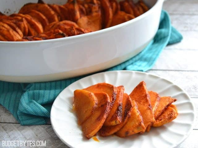 Smoky Roasted Sweet Potatoes - BudgetBytes.com