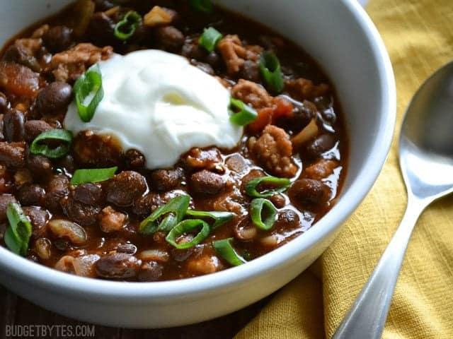 Black Bean Chili - BudgetBytes.com