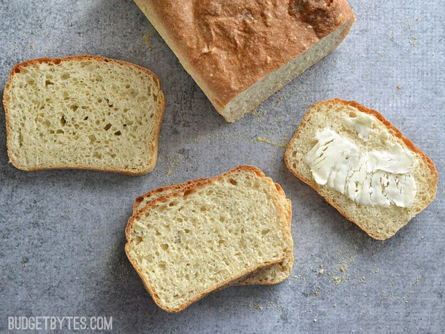 English Muffin Bread - BudgetBytes.com