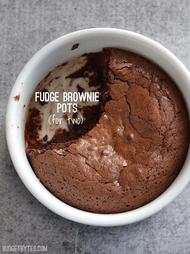 Fudge Brownie Pots - BudgetBytes.com