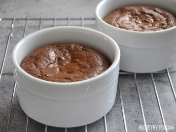 Chocolate Brownie Pots - BudgetBytes.com