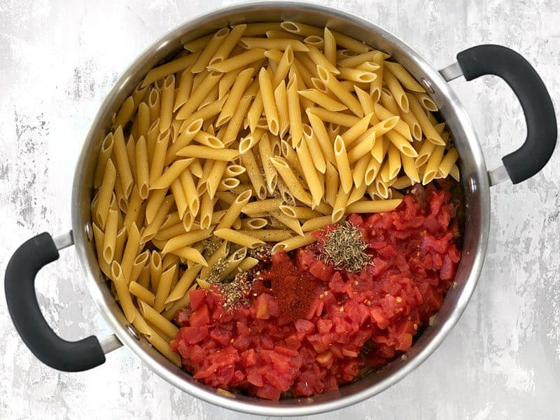 Pasta Tomatoes Spices