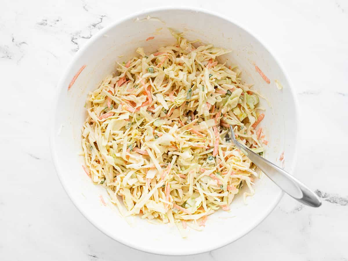 Finished cumin lime coleslaw from above