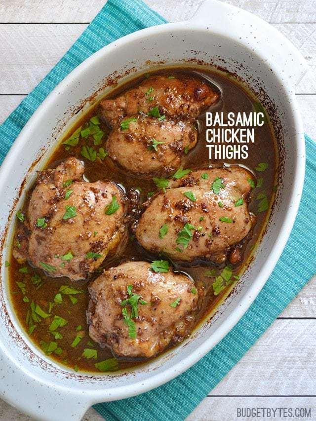 Balsamic Chicken Thighs - BudgetBytes.com