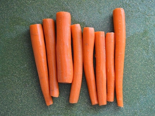 Cleaned Carrots
