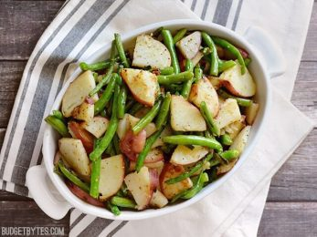 Skillet Potatoes and Green Beans - BudgetBytes.com