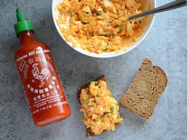 Sriracha Egg Salad Sandwich - BudgetBytes.com